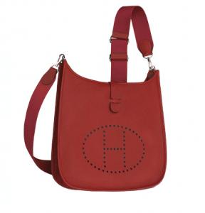 Hermes Red Evelyne III GM Bag