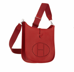 Hermes Red Evelyne III PM Bag