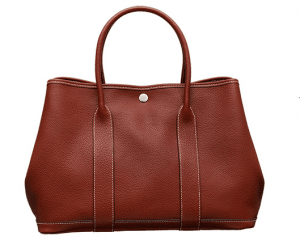 Hermes Red Leather Garden Party Medium Bag