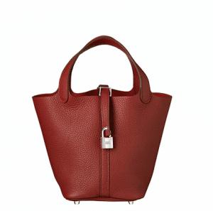 Hermes Rouge Picotin Lock PM Bag