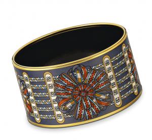 Hermes Rubans De Cheval Extra Wide Enamel Bracelet