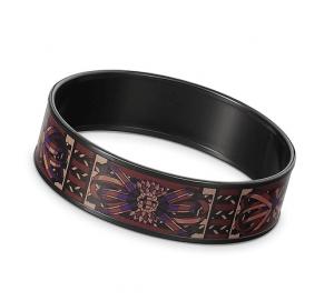 Hermes Rubans De Cheval Wide Enamel Bracelet
