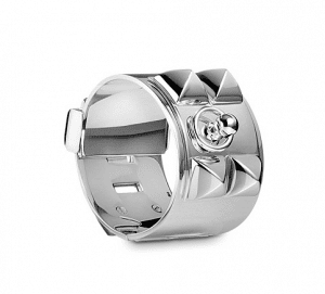 Hermes Silver Collier de Chien Bracelet