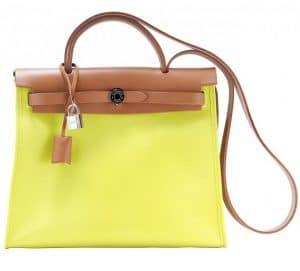 Hermes Soufre Herbag Zip 31 Bag