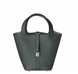 Hermes Storm Blue Picotin Lock MM Bag