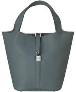 Hermes Storm Blue Picotin Lock TGM Bag