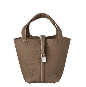 Hermes Taupe Picotin Lock PM Bag
