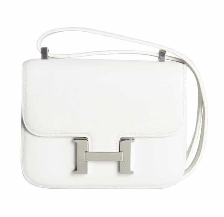 Hermes White Constance Micro Bag