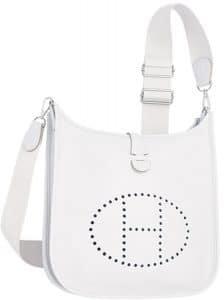 Hermes White Evelyne III PM Bag