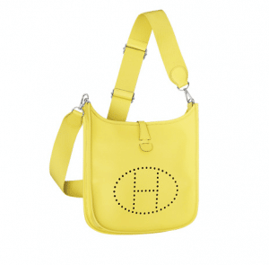Hermes Yellow Evelyne III PM Bag