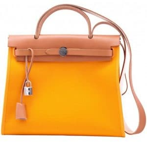 Hermes Yellow Herbag Zip 39 Bag