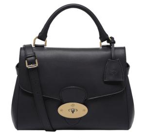 Mulberry Black Polished Calf Primrose Bag