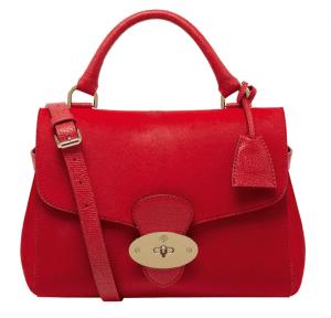 Mulberry Bright Red Hair Calf Primrose Bag