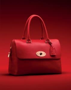 Mulberry Bright Red Shiny Goat Del Rey Bag