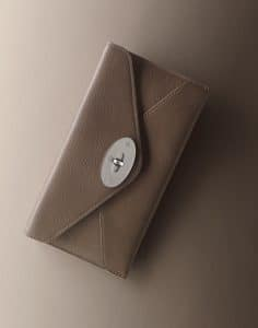 Mulberry Taupe Shiny Goat Envelope Wallet