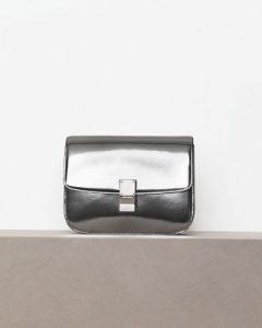 Celine Metallic Silver Box Flap Bag - Winter 2012