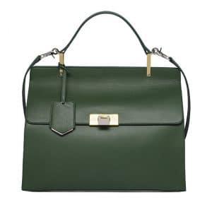 Balenciaga Forest Green Le Dix Cartable Bag