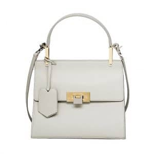 Balenciaga Pearl Gray Le Dix Cartable Bag