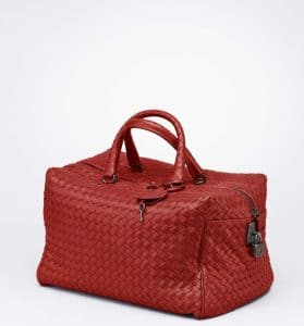 Bottega Veneta Brique Intreciatto Nappa Top Handle Bag
