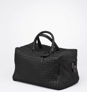Bottega Veneta Nero Intreciatto Nappa Top Handle Bag