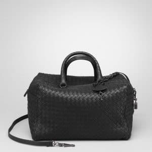 Bottega Veneta Nero Intreciatto Nappa Top Handle Bag 1