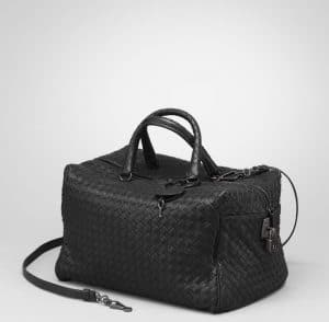 Bottega Veneta Nero Intreciatto Nappa Top Handle Bag 2