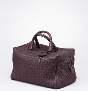 Bottega Veneta Quetsche Intreciatto Nappa Top Handle Bag