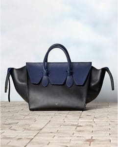 Celine Bicolour Navy Tie Tote Bag