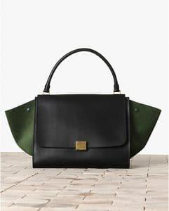 Celine Black Bicolor Trapeze Bag