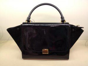 Celine Black Patent Trapeze Bag