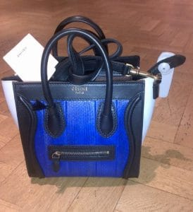 Celine Blue Python Nano Luggage Bag
