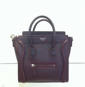 Celine Brown Nano Luggage Bag