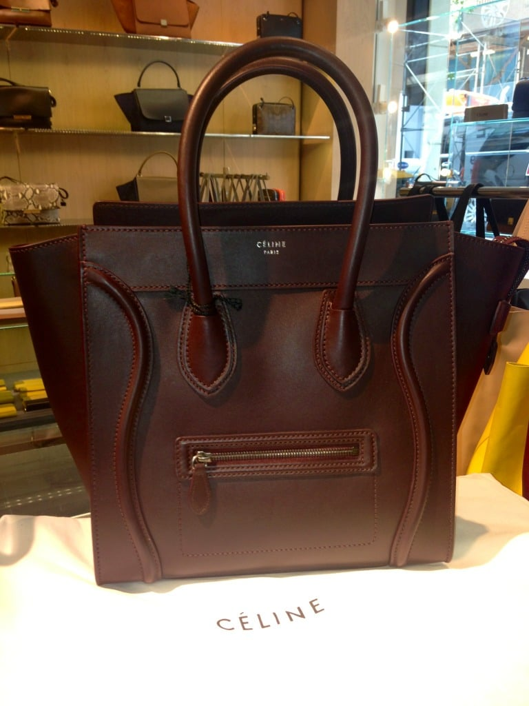 original celine handbags - Celine Black Calfskin Micro Luggage Tote Bag
