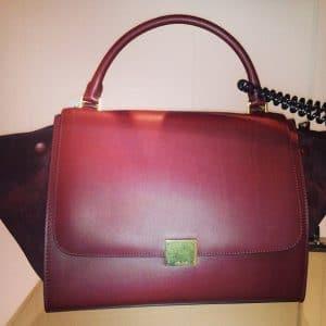 Celine Burgundy Trapeze Bag