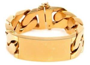 Celine Gold ID Chain Bracelet