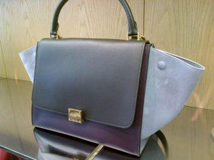 Celine Grey Tricolor Celine Trapeze Bag