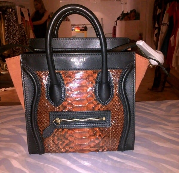 celine tan bag - Celine Python Bags the Ultimate in Luxury | Spotted Fashion