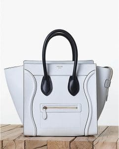 Celine Satin White Mini Luggage Bag