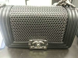 Chanel Black Boy Chain Mail Small Bag