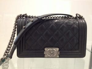 Chanel Black Boy Quilted Medium Bag