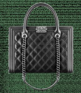 Chanel Black Boy Shopping Tote Large Bag