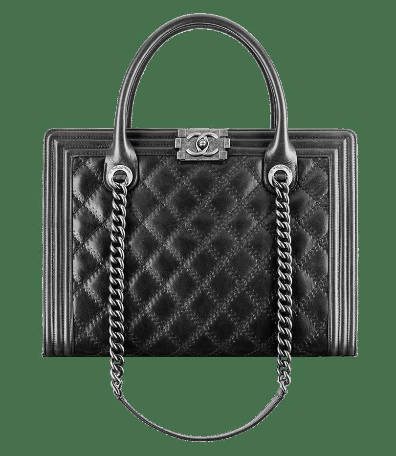 Chanel Black Boy Ping Tote Large Bag