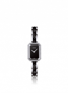 Chanel Black Ceramic Steel Diamonds Premiere Watch