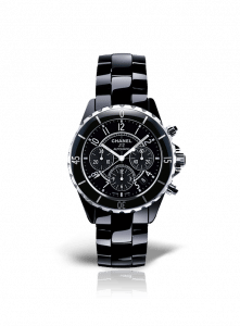 Chanel Black J12 Chronograph Watch 41mm