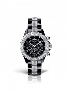 Chanel Black J12 Diamond Chronography 41mm