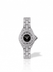 Chanel Black J12 Diamond-Paved Watch 29mm