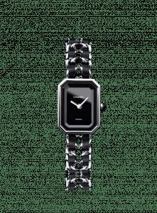 Chanel Black Leather/Steel Premiere Watch 20mm