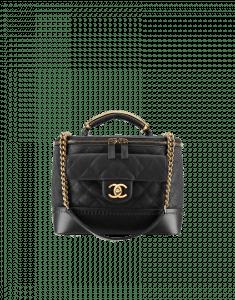 Chanel Black Globe Trotter Vanity Case Bag