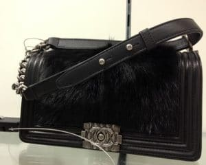 Chanel Black with Goat Skin/Hair Boy Chanel Celtic Medium Bag