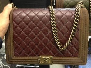 Chanel Burgundy/Brown Boy Large Bag